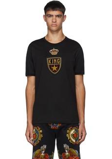 Dolce & Gabbana Black Emblem Patch T-Shirt