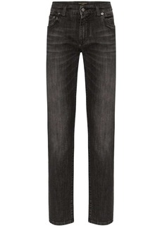 Dolce & Gabbana faded logo plaque jeans