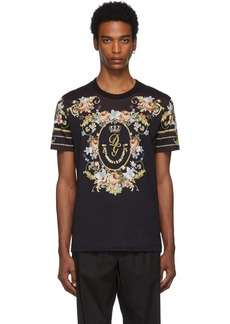 Dolce & Gabbana Black Floral T-Shirt