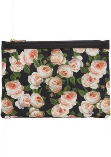 Dolce & Gabbana Black Flower Print Pouch