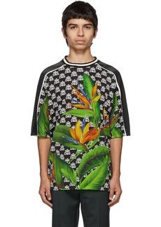 Dolce & Gabbana Black Hawaiian Logo Print T-Shirt