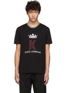 Dolce & Gabbana Black King Patch T-Shirt