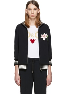 Dolce & Gabbana Black Lilium Sweater