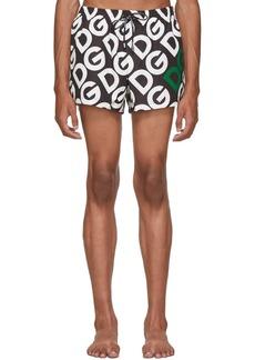 Dolce & Gabbana Black Logo Swim Shorts