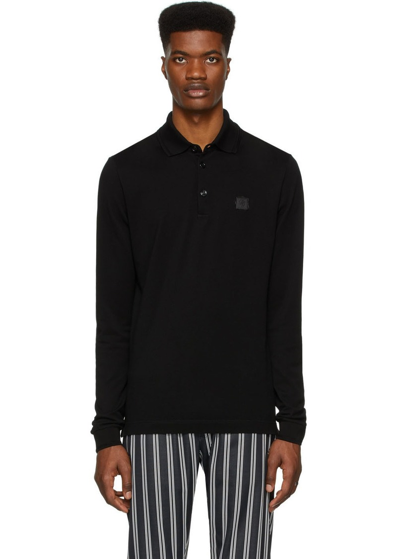 Dolce & Gabbana Black Long Sleeve Polo