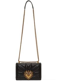 Dolce & Gabbana Black Medium Quilted Devotion Bag