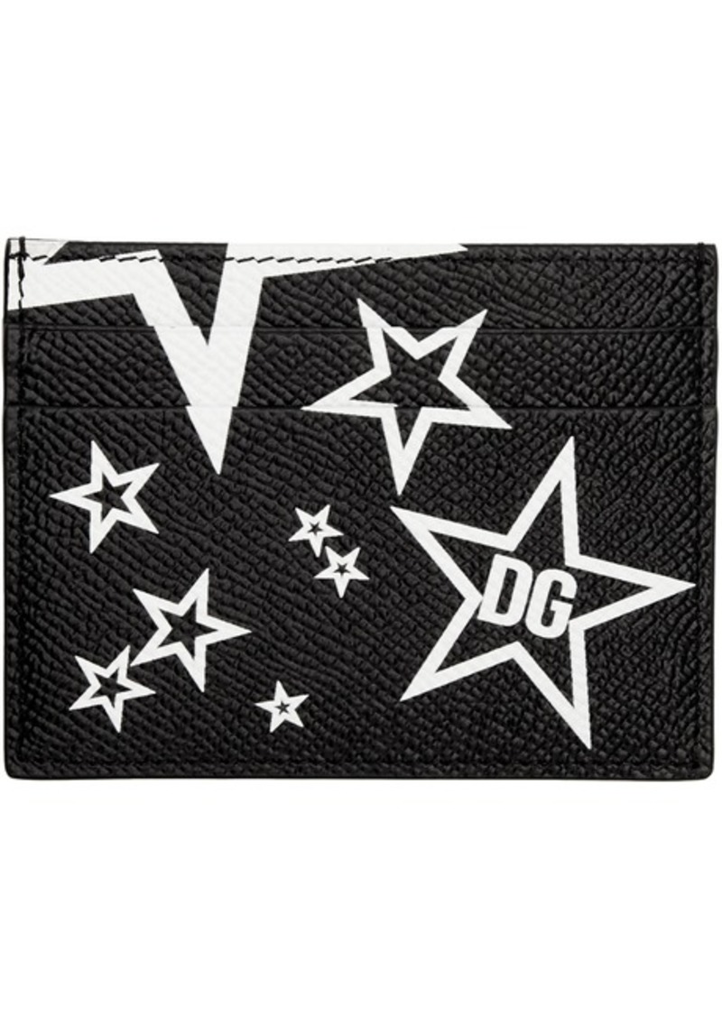 Dolce & Gabbana Black Millennial Star Card Holder