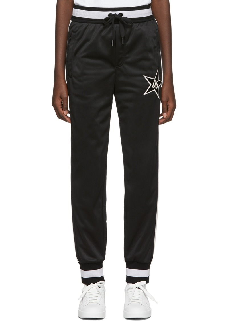 Dolce & Gabbana Black Millennials Star Lounge Pants