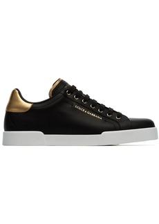 Dolce & Gabbana black Portofino low-top leather sneakers