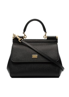Dolce & Gabbana black sicily small leather bag