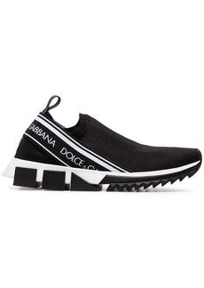 Dolce & Gabbana black Sorrento stretch slip-on sneakers