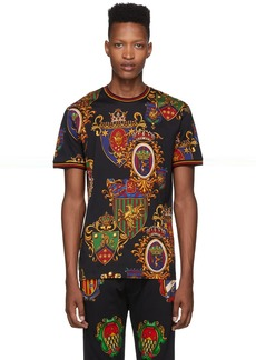 Dolce & Gabbana Black Stemmi 3 Printed T-Shirt