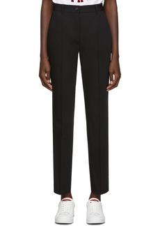 Dolce & Gabbana Black Straight Trousers