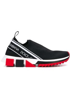 Dolce & Gabbana black, white and red sorrento logo sneakers