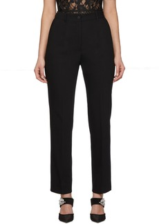 Dolce & Gabbana Black Wool Tuxedo Trousers