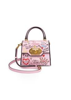Dolce & Gabbana Borsapolla Tracolla Graphic Leather Crossbody Bag