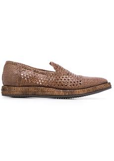 Dolce & Gabbana braided calfskin derby loafers