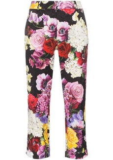 Dolce & Gabbana broccato floral printed trousers