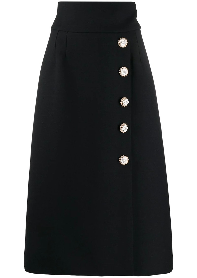Dolce & Gabbana button down high waisted skirt