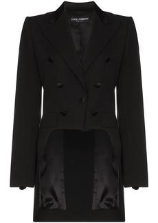 Dolce & Gabbana button embellished tailcoat blazer
