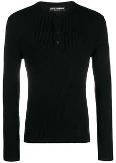 Dolce & Gabbana buttoned sweatshirt