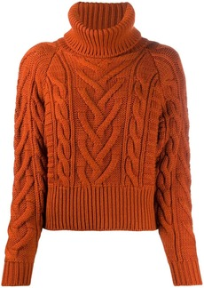 Dolce & Gabbana cable-knit rollneck jumper