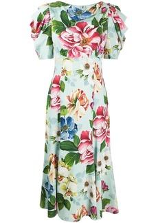 Dolce & Gabbana Cady floral midi dress