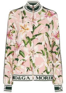 Dolce & Gabbana Cady lily-print track jacket