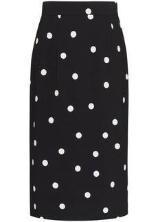 Dolce & Gabbana Cady polka-dot pencil skirt