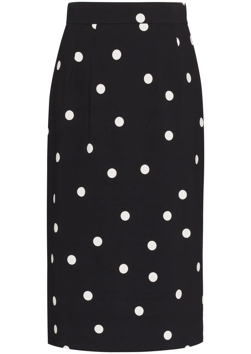 Dolce & Gabbana Cady polka-dot pencil skirt