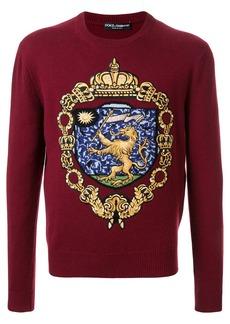Dolce & Gabbana cashmere coat of arms jumper