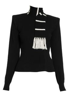 Dolce & Gabbana Cashmere Knit Scarf Sweater