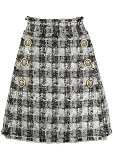 Dolce & Gabbana checked A-line skirt
