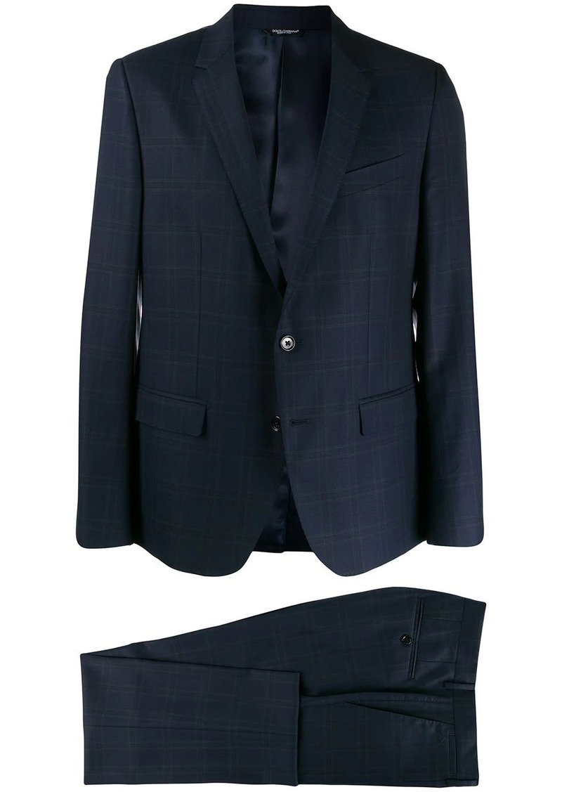 Dolce & Gabbana checked single breasted suit