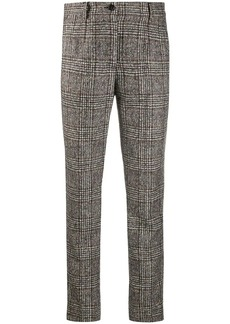 Dolce & Gabbana checked slim-fit trousers