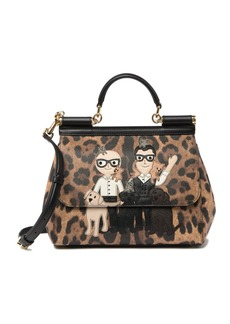 Dolce & Gabbana Cheetah Printed Leather Satchel