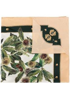 Dolce & Gabbana chestnut prit silk scarf