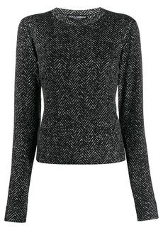 Dolce & Gabbana chevron round neck sweater