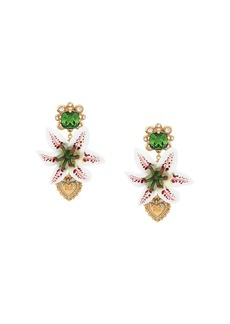 Dolce & Gabbana clip-on drop embellished earrings