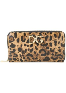 Dolce & Gabbana Continental logo plaque wallet