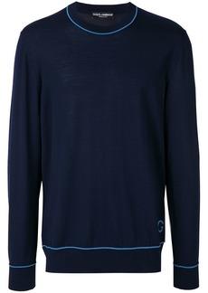 Dolce & Gabbana contrast pipe trim sweater