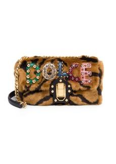 Dolce & Gabbana Convertible Faux-Fur Logo Shoulder Bag