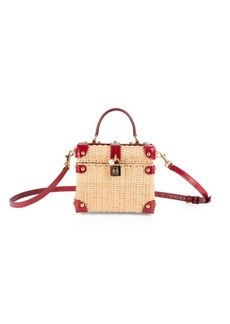 Dolce & Gabbana Convertible Wicker Box Bag