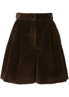 Dolce & Gabbana corduroy high-waisted shorts