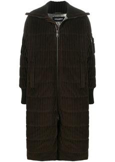 Dolce & Gabbana corduroy long padded coat