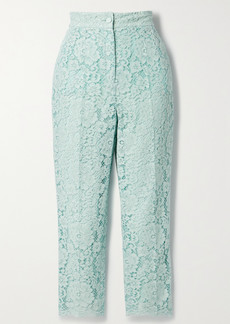 Dolce & Gabbana Cotton-blend Corded Lace Tapered Pants