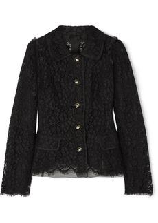 Dolce & Gabbana Cotton-blend Guipure Lace Jacket
