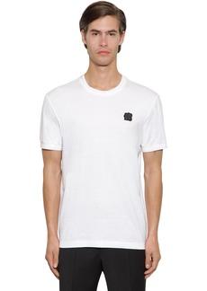 Dolce & Gabbana Cotton Jersey T-shirt W/ Rubber Logo