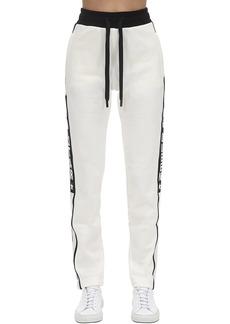 Dolce & Gabbana Cotton Jersey Track Pants W/side Bands