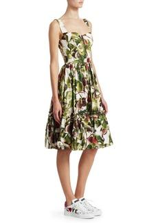 Dolce & Gabbana Cotton Poplin Bustier Dress